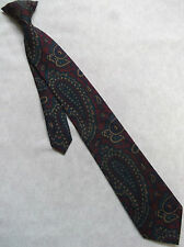 VINTAGE RETRO CLIP-ON TIE MENS READY TIED SECURITY 1980s BY TIE RACK PAISLEY
