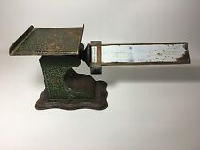 Antique Vintage Pelouze Cast Iron & Brass Balance Postal Scale, Chicago