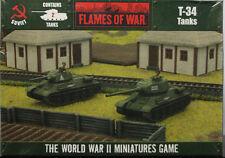 Flames of War: Soviet: T-34 Tanks (2 Models) (OFBX09)  NEW