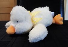MOTHERCARE FLOPPY DUCK CHICK WITH YELLOW BOW BABY COMFORTER SOFT TOY