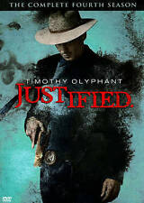 Justified: The Complete Fourth Season (DVD, 2013, 3-Disc Set) *Sealed