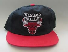 Vintage NBA Chicago Bulls Plain Logo Snapback Hat by Sports Star Pippen Jordan