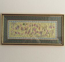 Beautiful Chinese Silk Stitch Embroidery Wall Frame Picture People Dragon