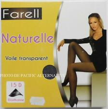 Collants GRIS Taille 2 /M - 15 D - FARELL pour femme lycra sexy tights grey #C51