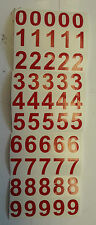 """RED STICKY VINYL NUMBERS 25mm (1"""") HIGH x 50 waterproof"""