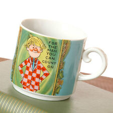 Vintage Coffee Mug For the Man You Can Count On Accountant Japan Blue Green