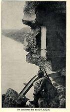 1914 Belgien Antwerpen Im zerschossenen Fort Wavre-St-Catherine *  WW1