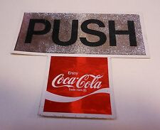 "Vintage Coca Cola Door Sticker ""Push"""