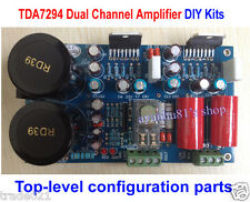 HIFI TDA7294 Dual Stereo Power Amplifier Board Kits w/ Speaker Protection 70W x2