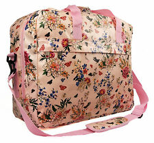 Womens Large Oilcloth Floral Polka Dot Maternity Hand Luggage Travel Holdall Bag