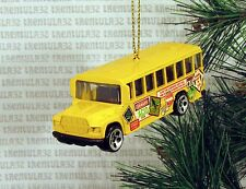 DANGER ACID ROCK SCHOOL BUS YELLOW CHRISTMAS ORNAMENT XMAS
