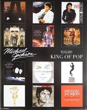 MICHAEL JACKSON ALBUM COVERS POSTER (40x50cm) 50 YEARS NEW LICENSED ART