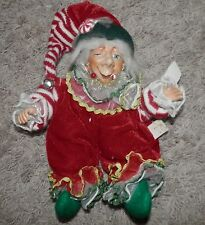 """Katherine's Collection christmas theme winking elf  9"""" inches sitting"""
