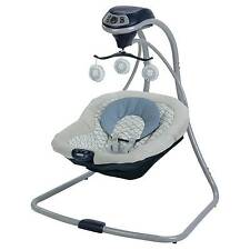 Graco Simple Sway LX Vibrating Baby Infant Swing w/ 15 Songs Wonder Collection