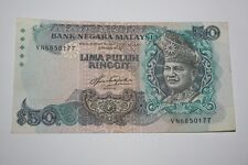 (PL) RM 50 VN 6850177 AZIZ TAHA 5TH SERIES LAST PREFIX - VF CONDITION