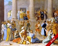 THE TRIUMPH OF DAVID ISRAEL PAINTING OLD TESTAMENT BIBLE ART REAL CANVAS PRINT