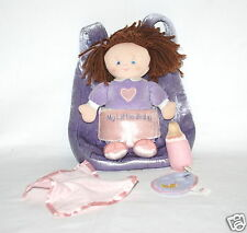 Baby Gund Plush My Little Baby Soft Backpack, Doll & Accessories