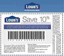 THREE (3x) Lowes 10% OFF Printable-Coupons Fast - exp 03/31/17 - INSTANT Email!