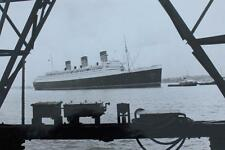 CUNARD WHITE STAR LINE RMS QUEEN MARY COMPANY ISSUE SOUTHAMPTON ARRIVAL PHOTO