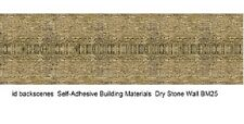 ID Backscenes BM025 Dry Stone Wall Top view 10 Self-Adhesive Paper Shts 00 Gauge
