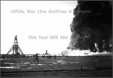 Photo: Distant Wreckage Of Burning Hindenburg At Lakehurst, NJ - May 6, 1937
