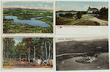 Lot of 6 - Saranac Lake Adirondacks Inns Fish Creek Campgrounds Postcards 1906-