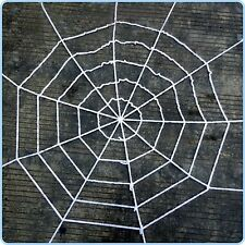 1.5m Giant Halloween Horror Party White Rope Spider Web Outdoor Decoration Prop