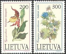 Lithuania 1992 Orchid/Holly/Flowers/Endangered Plants/Red Book 2v set (n30855)