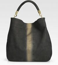 YSL Yves Saint Laurent Roady Ostrich-Stamped Hobo Bag Brand NEW 100% Auth!!!
