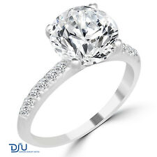 3.33 Ct Round Cut Diamond Engagement Ring VS2/F 14K White Gold