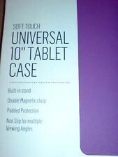 UNIVERSAL 10 INCH TABLET CASE PURPLE WITH BUILT IN STAND (SOFT TOUCH) NEW