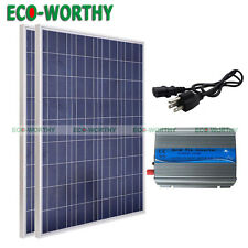 200Watt Solar Panel Grid Tie Kits-2x100W Solar Panels & 300W On Grid Inverter dd