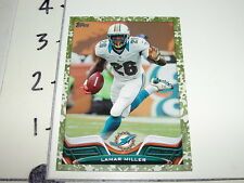 2013 TOPPS Lamar MILLER #141 Camoflage short print/399 Miami DOLPHINS-HURRICANES