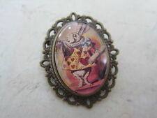 Alice in Wonderland Vintage White Rabbit Bronze Plated  Brooch New in Gift Bag