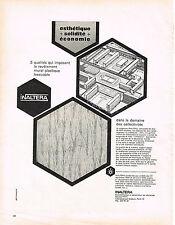 PUBLICITE ADVERTISING   1964   INALTERA    revetement mural