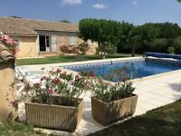 Pretty villa/house for sale. 4 beds + private heated pool. UZES. South France.