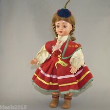 Madeira, Portugal Vintage Souvenir Plastic Girl Doll in Traditional Costume –D41