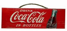 "17"" Drink Coca-Cola Wood Sign - Reproduction"