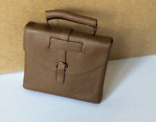 Brown Briefcase, Dolls House Miniatures, Doll Accessory Miniature Bag