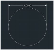 "1pc Acrylic Plastic (plexiglass)  Round  Sheet  - 1/8"" x 4""  Circle  -  Clear"