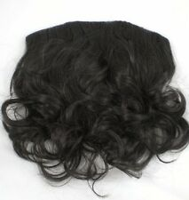 "14"" Brown Wavy Clip In Hair Extension Hairdo Fall Piece"