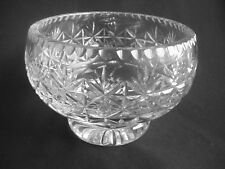 HEAVY CRYSTAL / CUT GLASS FOOTED BOWL ~THOS. (THOMAS) WEBB ~SIGNED ~BOXED