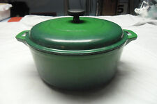 TRAMONTINA ENAMELED CAST IRON 6.5 QT ROUND DUTCH OVEN Green