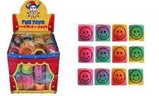 Confezione da 12 COLORI MINI Smiley MOLLE bambini Kid PARTY BORSA FILLER giocattolo PREMIO GIOCO