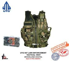 UTG 547 Law Enforcement Tactical Duty Vest (R) Hand Woodland Digital PVC-V547ET