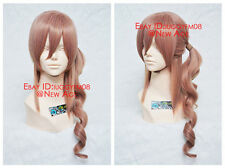 Final Fantasy XIII Serah Farron Cosplay Wig Mixed Smoky Pink + Free wig cap