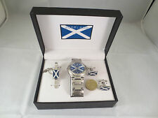 Reduced Scotland flag Rugby Football Wrist Watch Tie Pin and Cufflinks #7