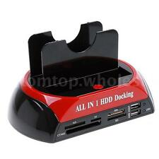 "2.5"" 3.5"" SATA/IDE HDD 2-Dock Docking Station e-SATA Hub M6O0"