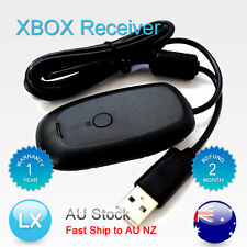 WIRELESS GAMING RECEIVER For X box 360 Controller on PC Win7 Black Free AU Post