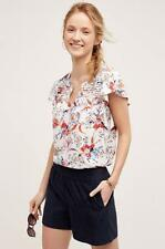 Anthropologie NWT Ridged Yoke Tee by Meadow Rue Size XL Floral New with Tag